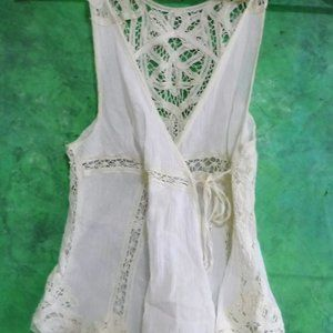 Free People Vintage Boho NEW Lace Ivory Tank Top